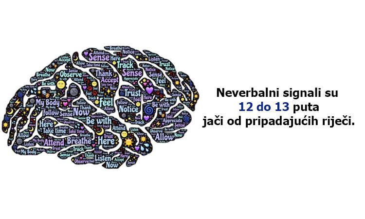 Neverbalna znakovi su 12 do 13 puta snažniji nego pripadajuće riječi